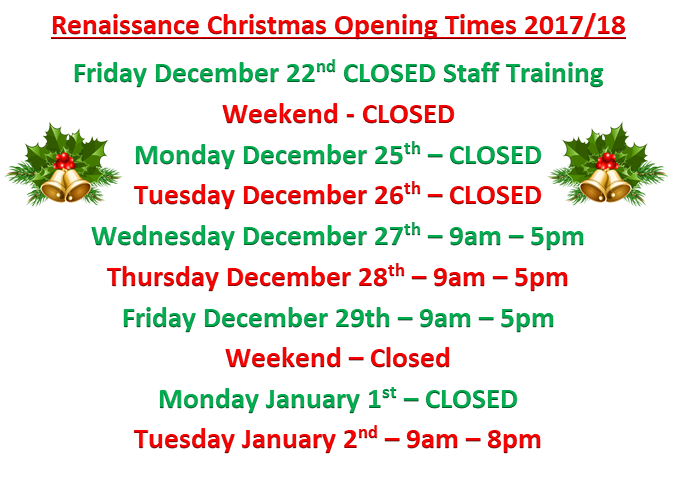 2017 18 opening times