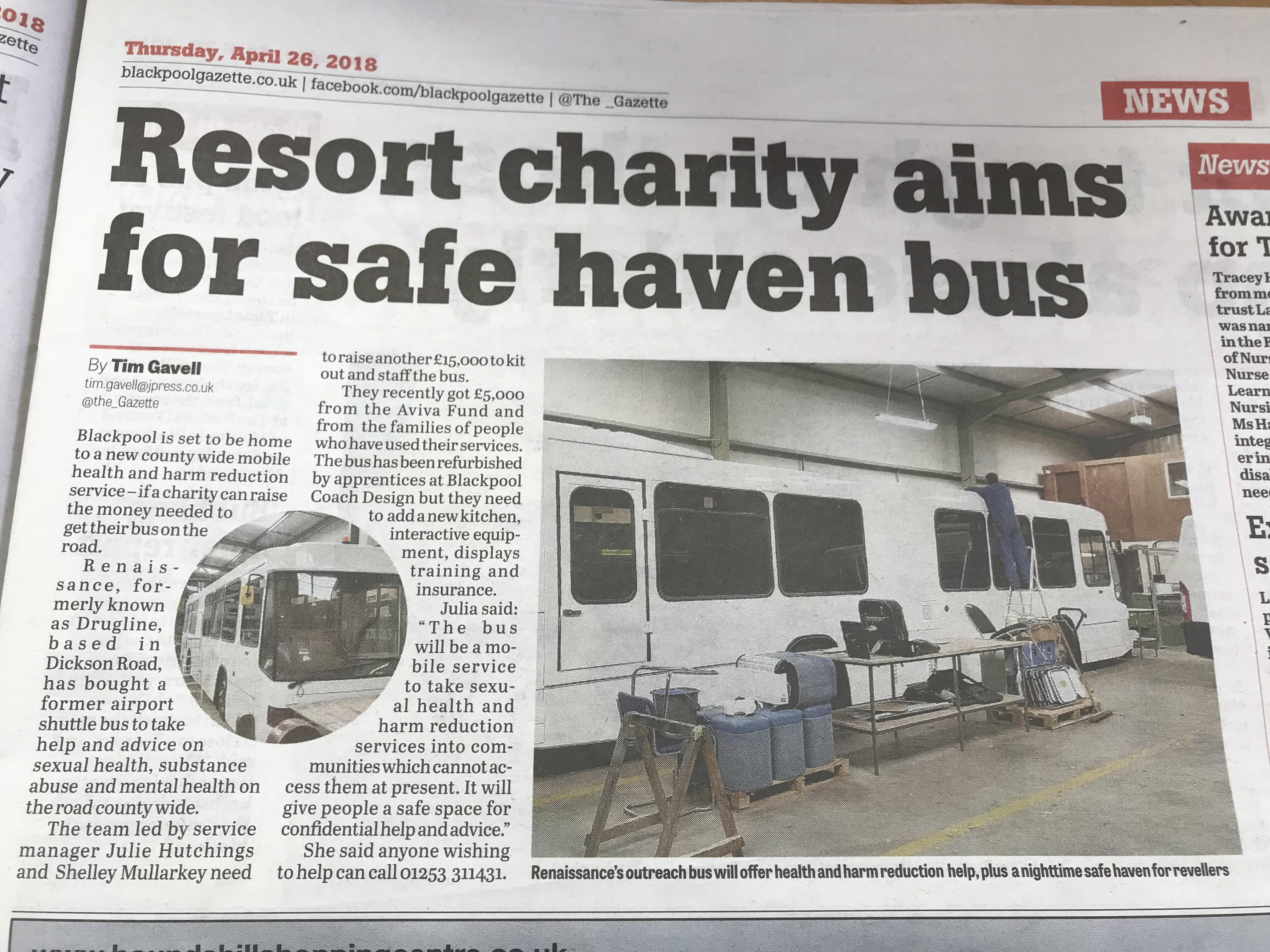 Blackpool Gazette Article April 2018