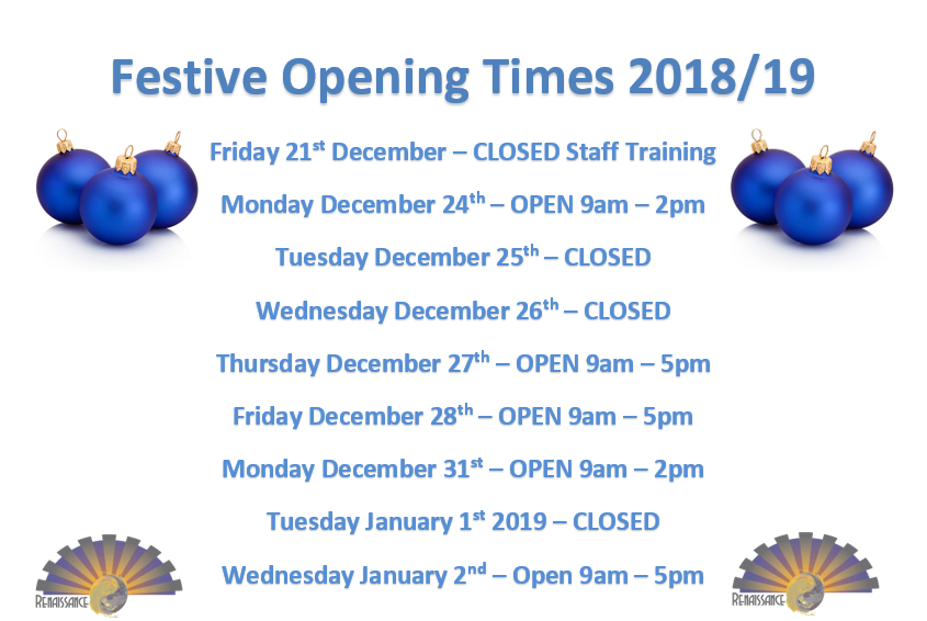 Opening times 2018 19 image
